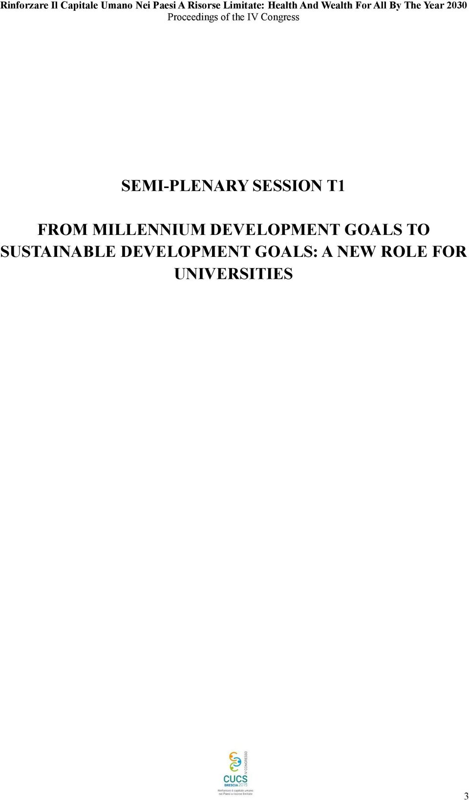 TO SUSTAINABLE DEVELOPMENT