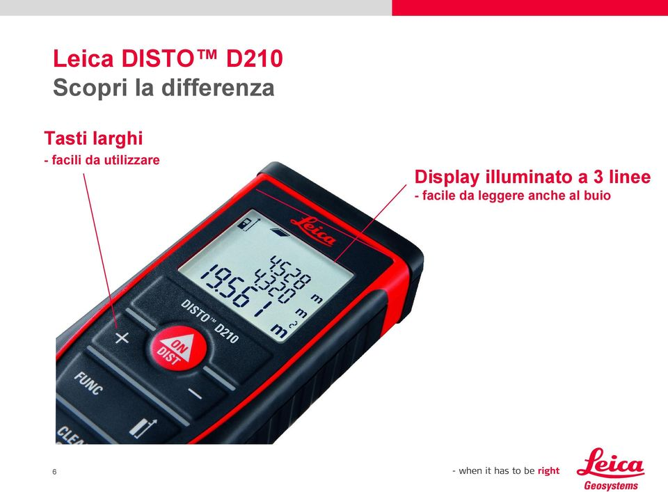 Display illuminato a 3 linee -