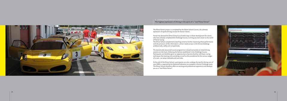Ferrari has devised the Driver School as a further step in driver development for clients who have already completed the Challenge Course, to bring you even closer to the world of Ferrari racing.
