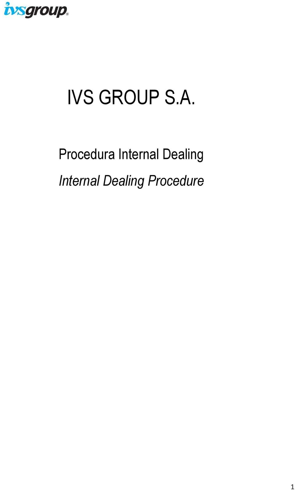 Internal Dealing