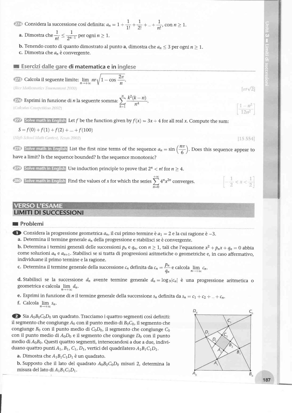 , di matematica e in Esprimi in funzione dinla seguente somma: ', t:ì, ':r' ' ',, r':,r, l)')-\, s : r(0) + r(1) + f(2) +... + r(100) l ''',i Let f be the function given by f (*) : 3x + 4 for all real.