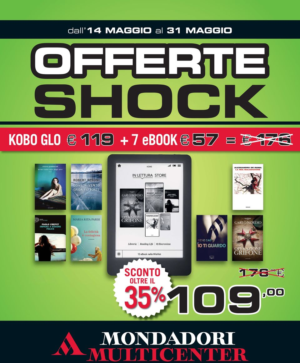 KOBO GLO 119 + 7 ebook