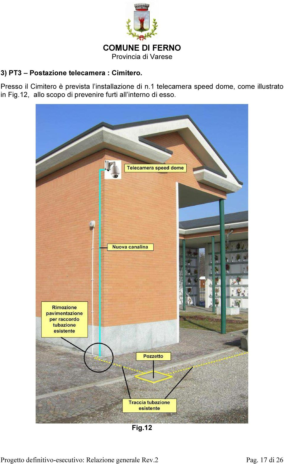 1 telecamera speed dome, come illustrato in Fig.
