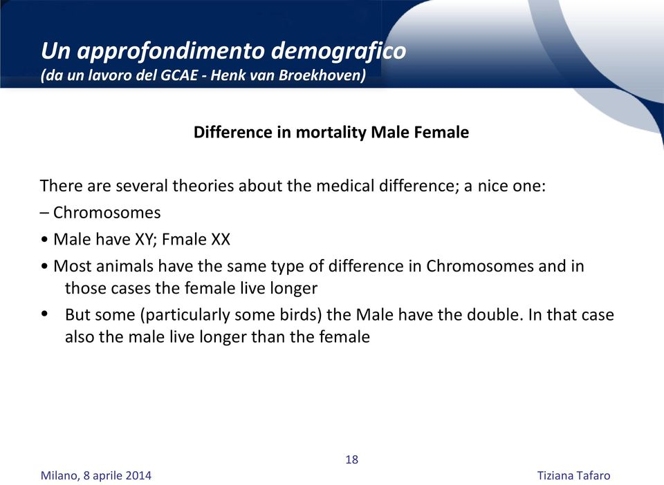 XX Most animals have the same type of difference in Chromosomes and in those cases the female live longer But