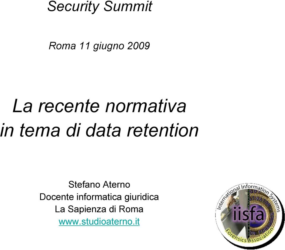 retention Stefano Aterno Docente