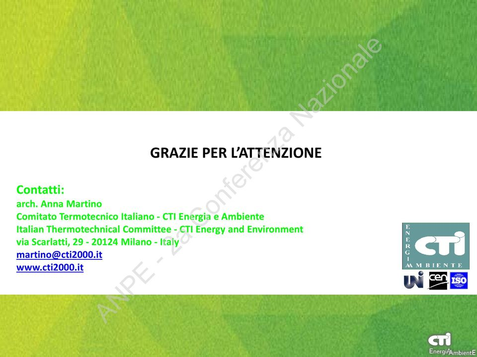 Ambiente Italian Thermotechnical Committee - CTI Energy and