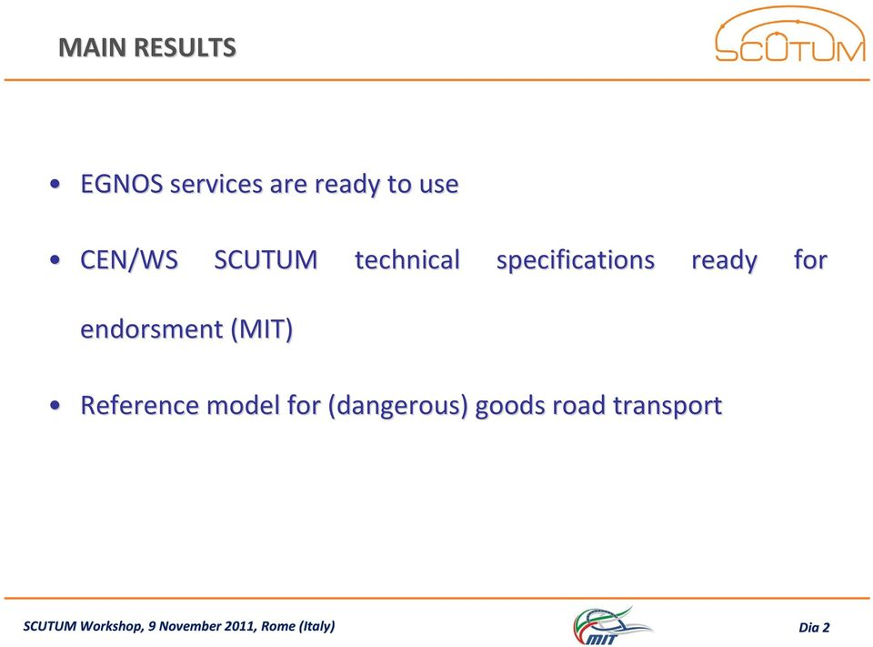 (MIT) Reference model for (dangerous) goods road