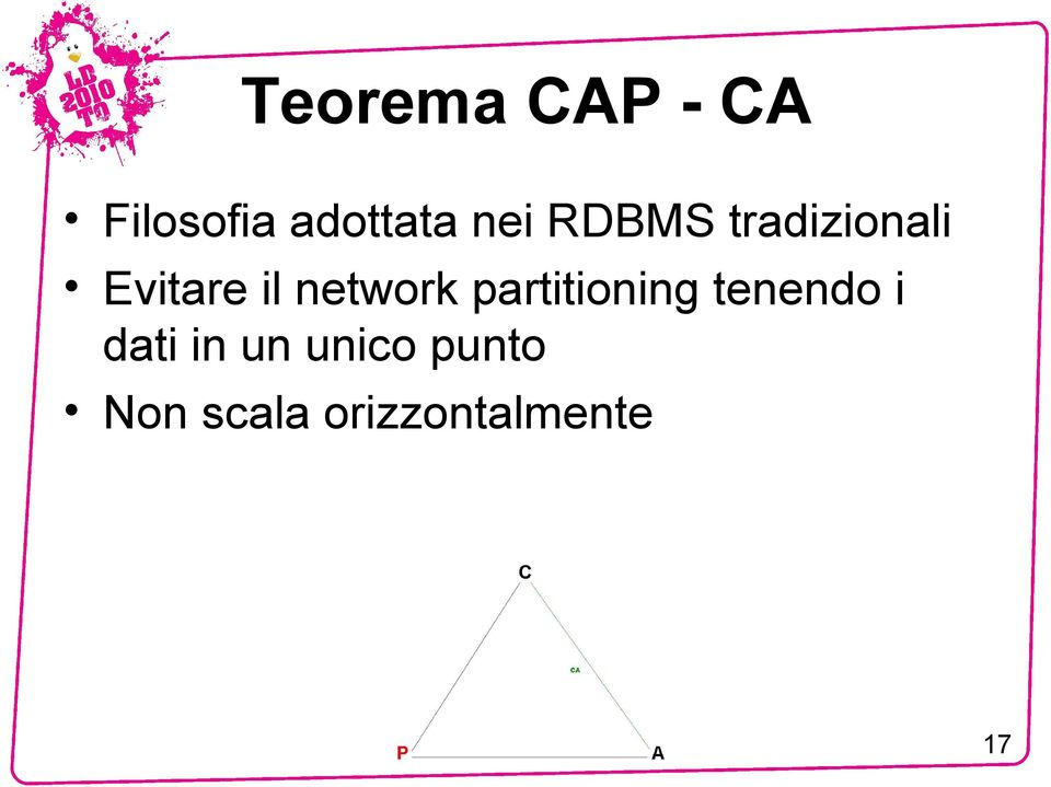 network partitioning tenendo i dati
