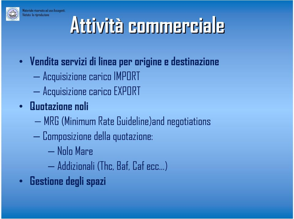 noli MRG (Minimum Rate Guideline)and negotiations Composizione