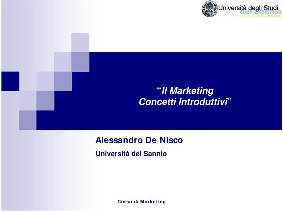 De Nisco Università del