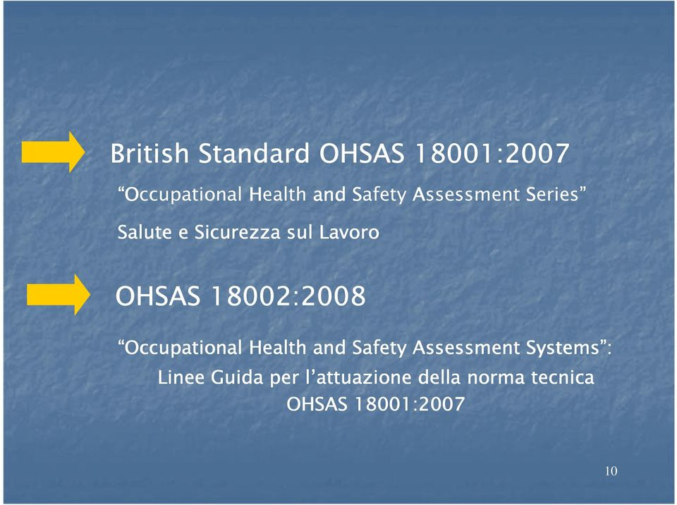 18002:2008 Occupational Health and Safety Assessment Systems :