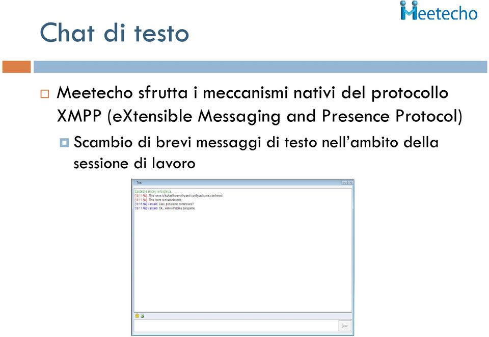 Messaging and Presence Protocol) Scambio di