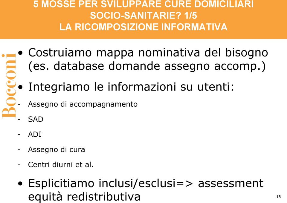 database domande assegno accomp.