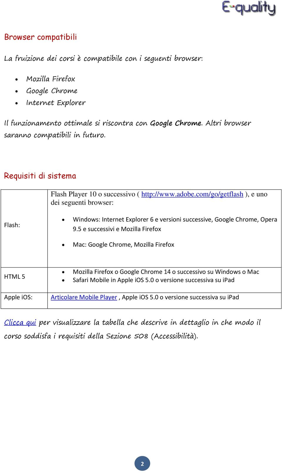 com/go/getflash ), e uno dei seguenti browser: Flash: Windows: Internet Explorer 6 e versioni successive, Google Chrome, Opera 9.