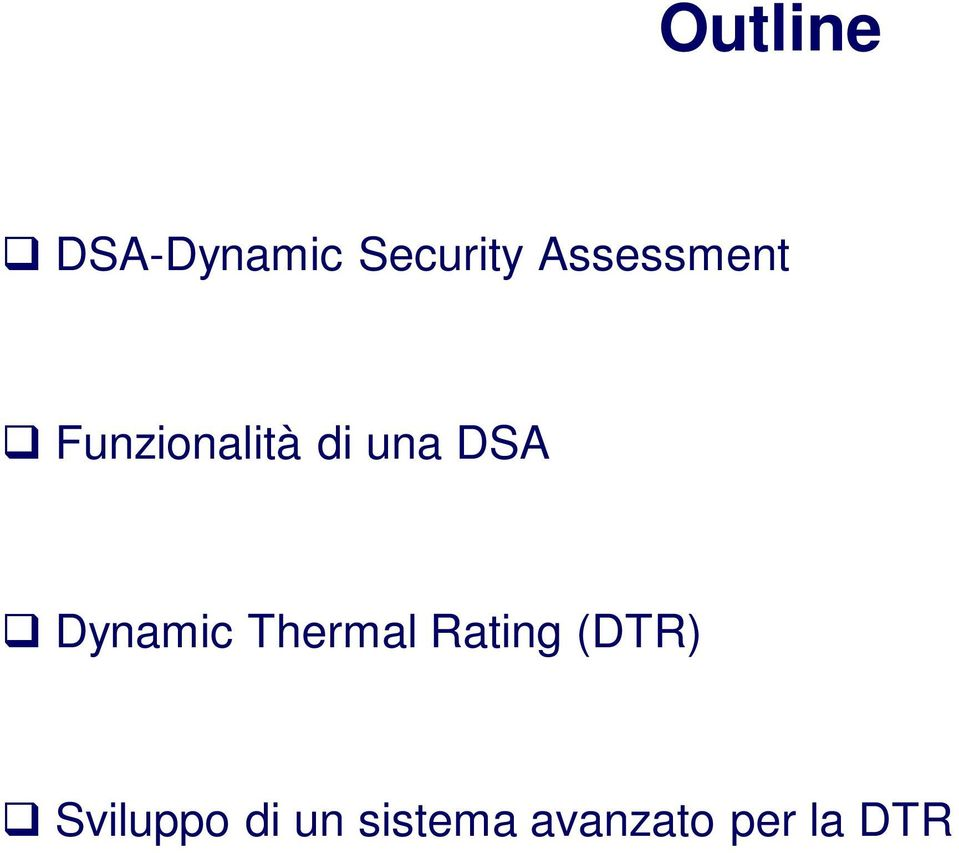 DSA Dynamic Thermal Rating (DTR)