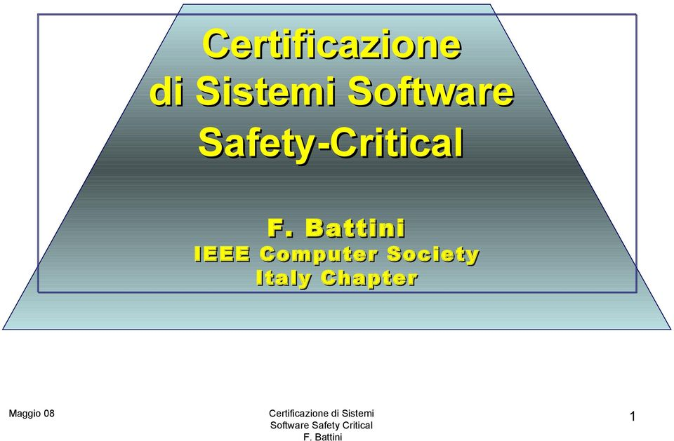 Safety-Critical IEEE