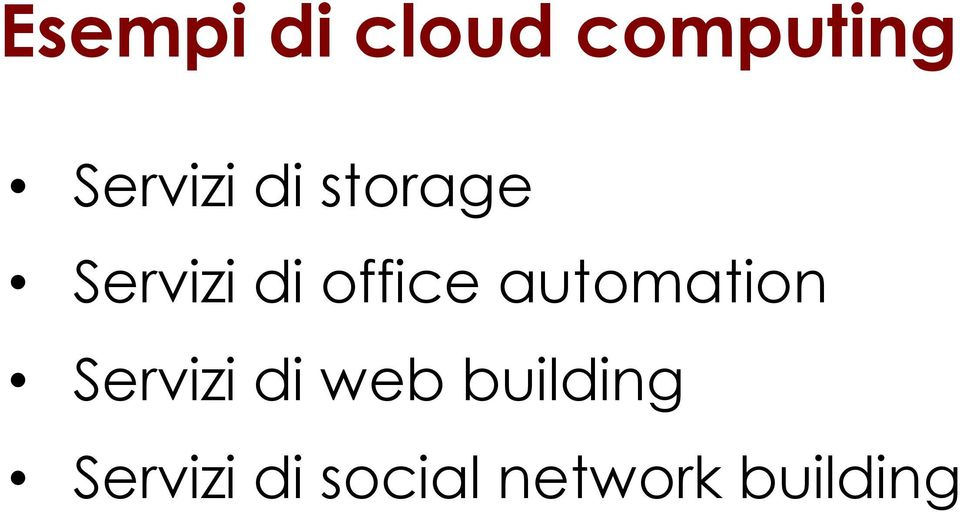 office automation Servizi di web