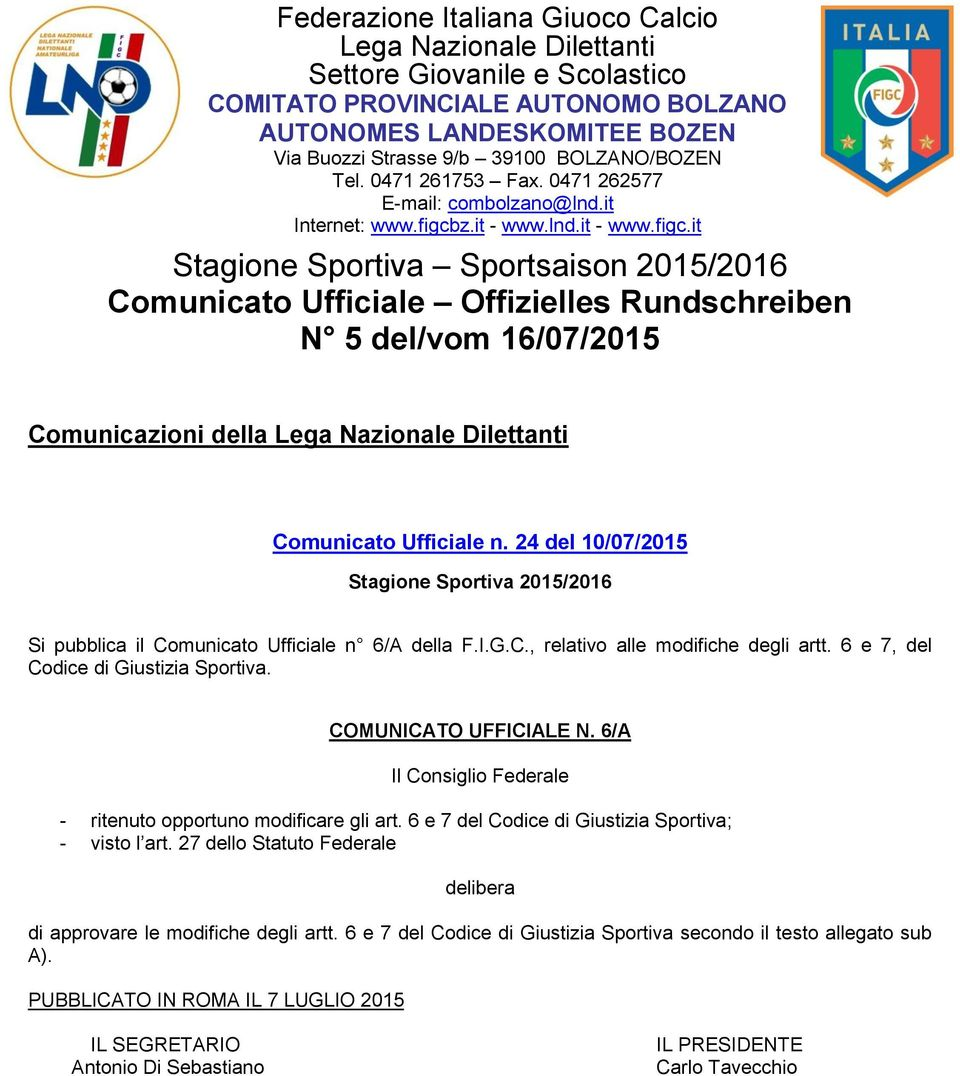 z.it - www.lnd.it - www.figc.