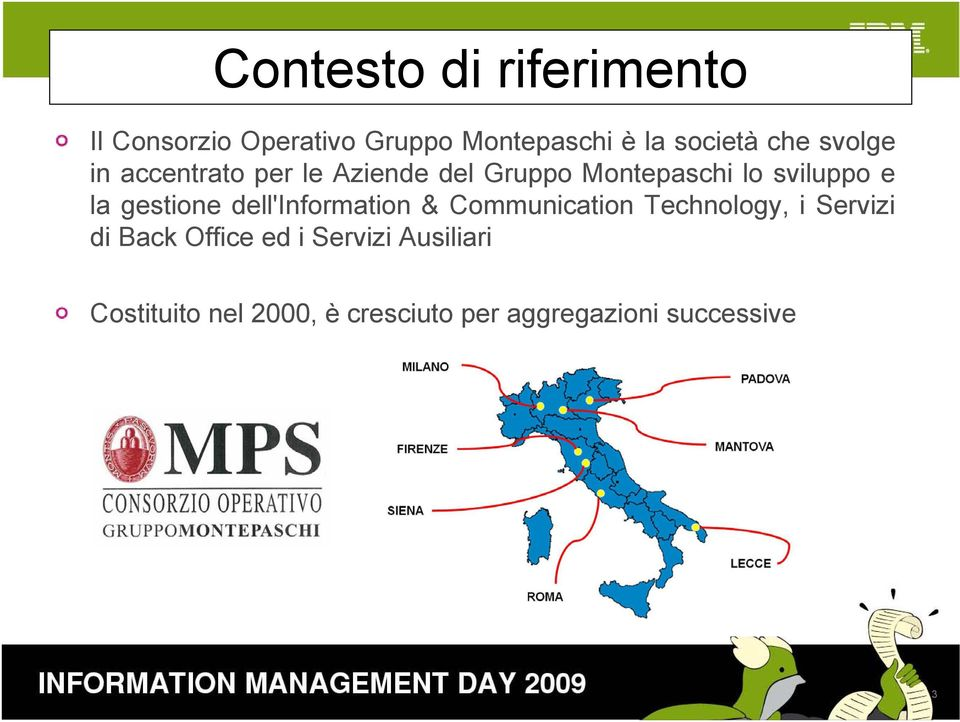 gestione dell'information & Communication Technology, i Servizi di Back Office