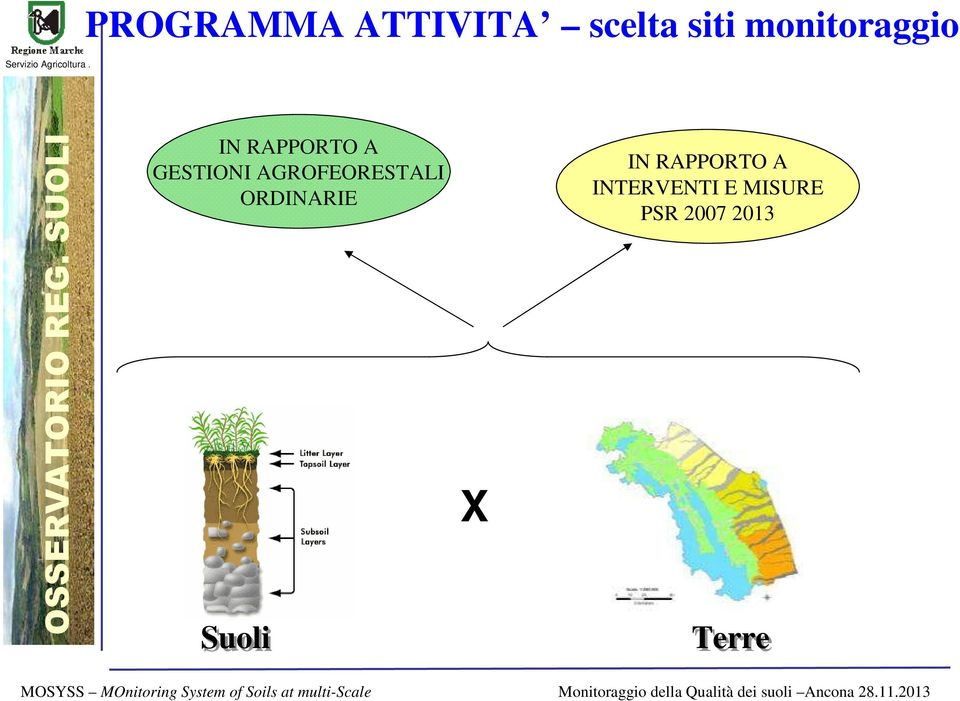 AGROFEORESTALI ORDINARIE Suoli X IN