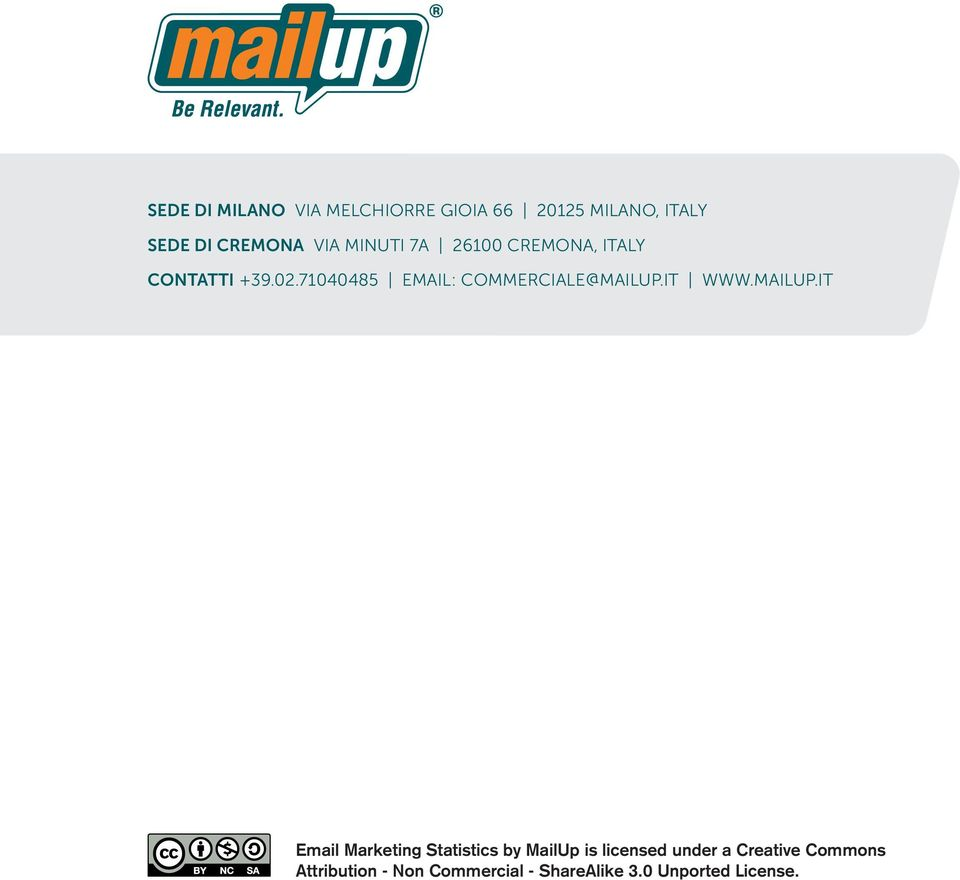 it Email Marketing Statistics by MailUp is licensed under a Creative Commons