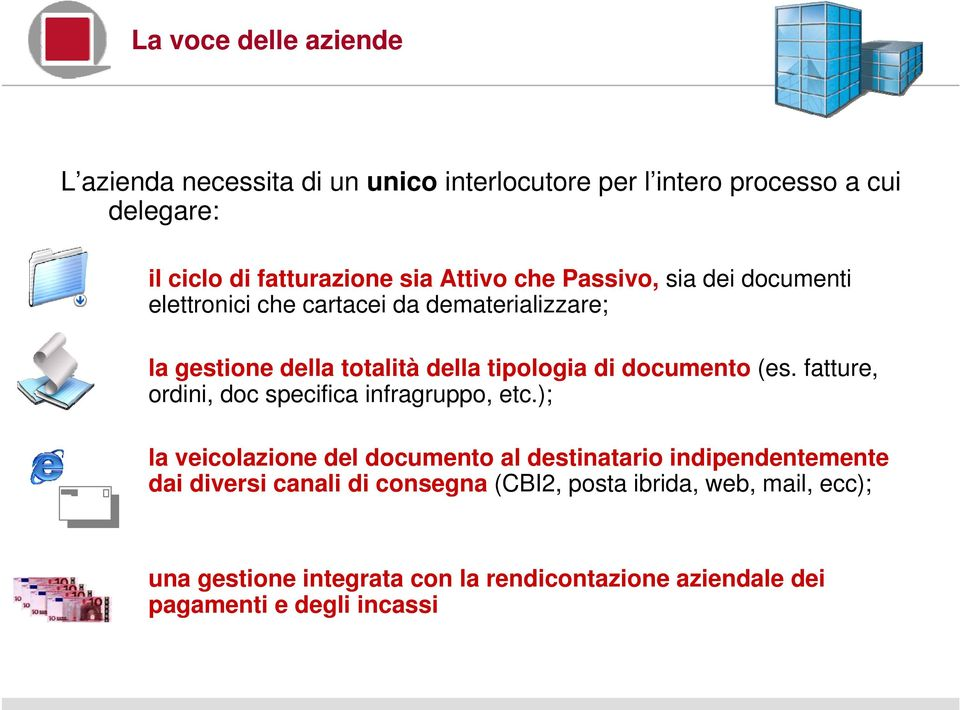 documento (es. fatture, ordini, doc specifica infragruppo, etc.
