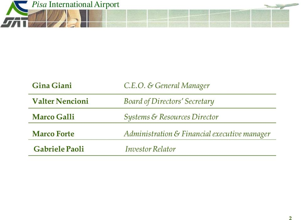 & General Manager Board of Directors Secretary