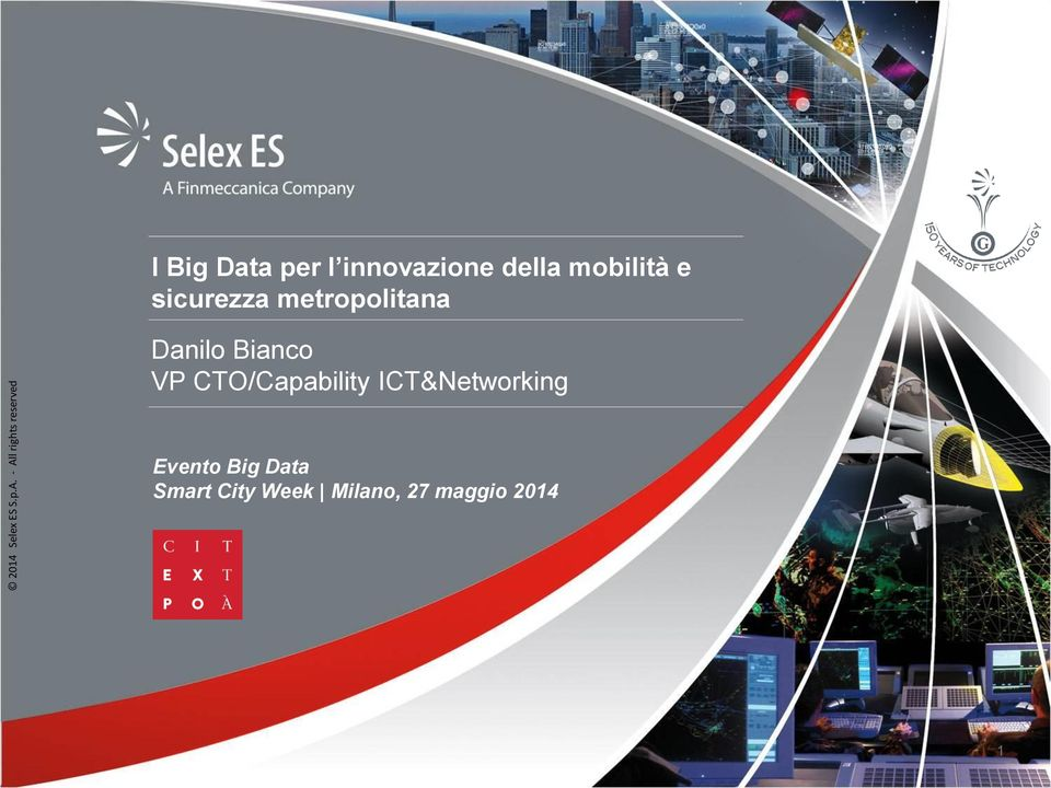 CTO/Capability ICT&Networking Evento Big