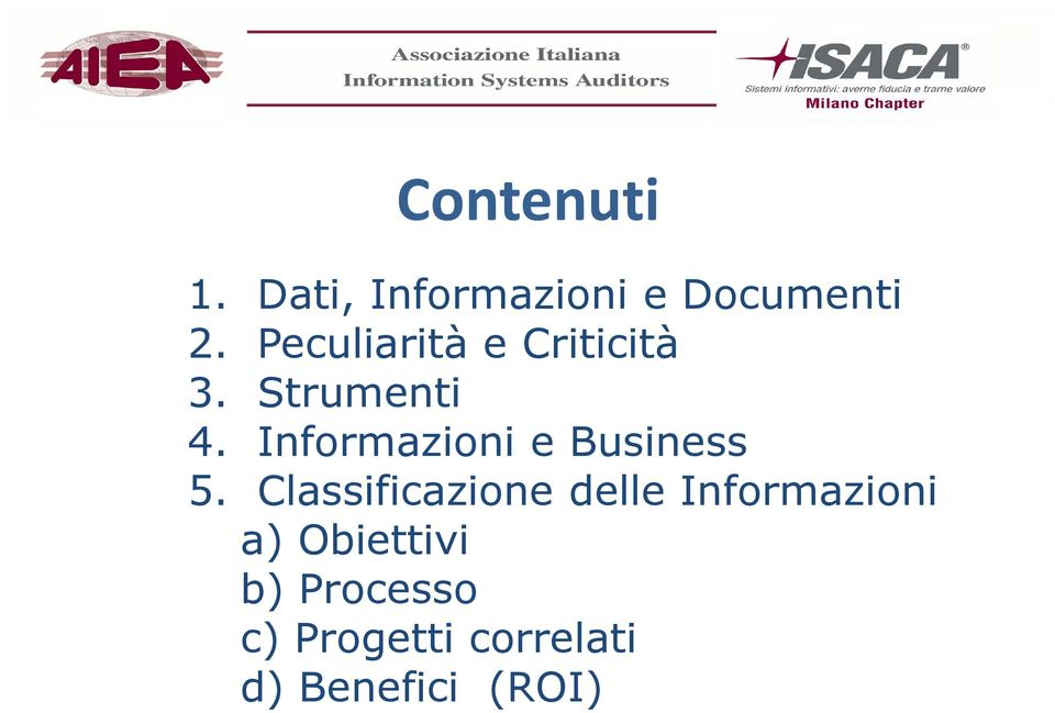 Informazioni e Business 5.