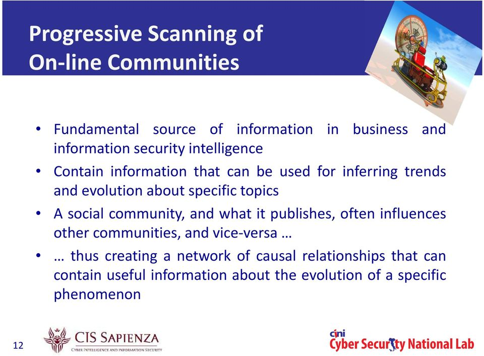topics A social community, and what it publishes, often influences other communities, and vice-versa thus