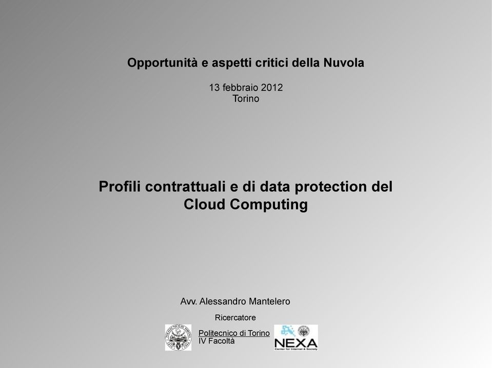 data protection del Cloud Avv.