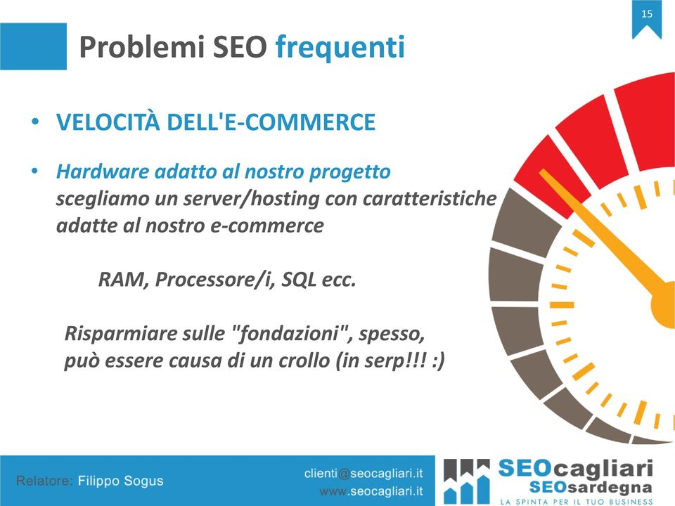 nostro e-commerce RAM, Processore/i, SQL ecc.