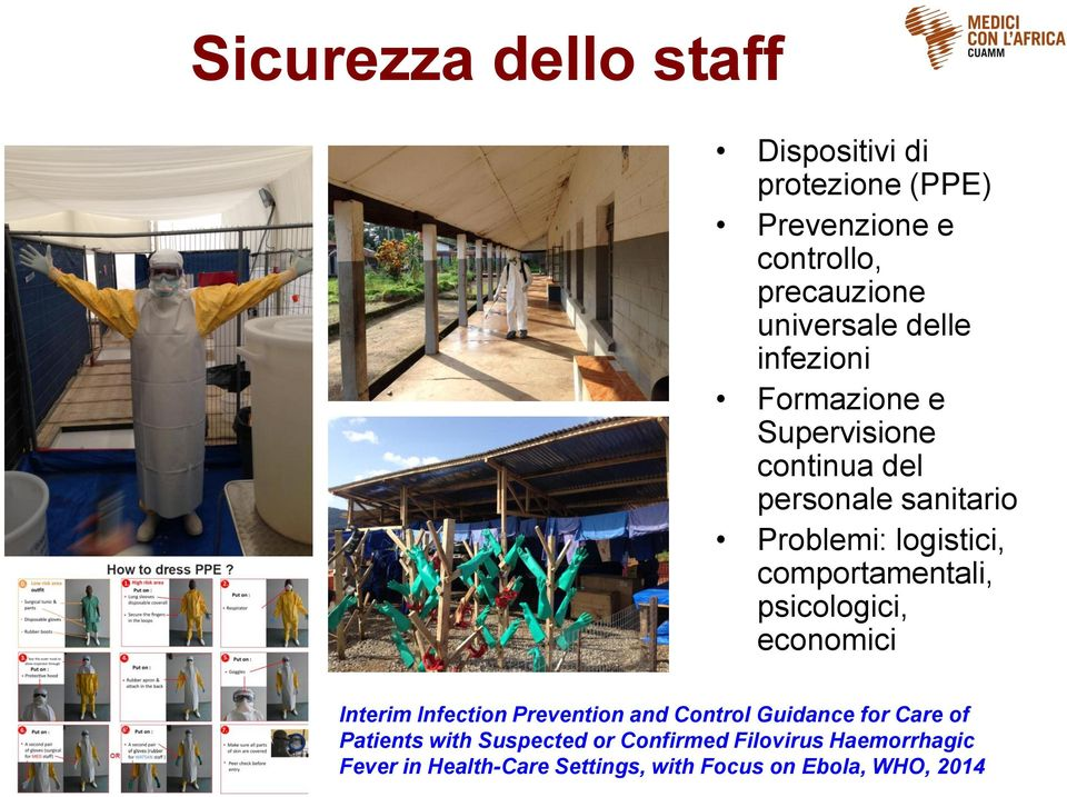 comportamentali, psicologici, economici Interim Infection Prevention and Control Guidance for Care of