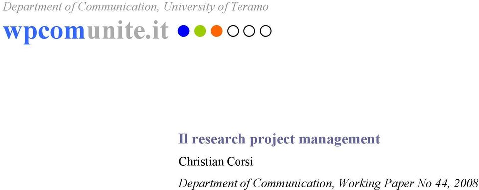 it Il research project management