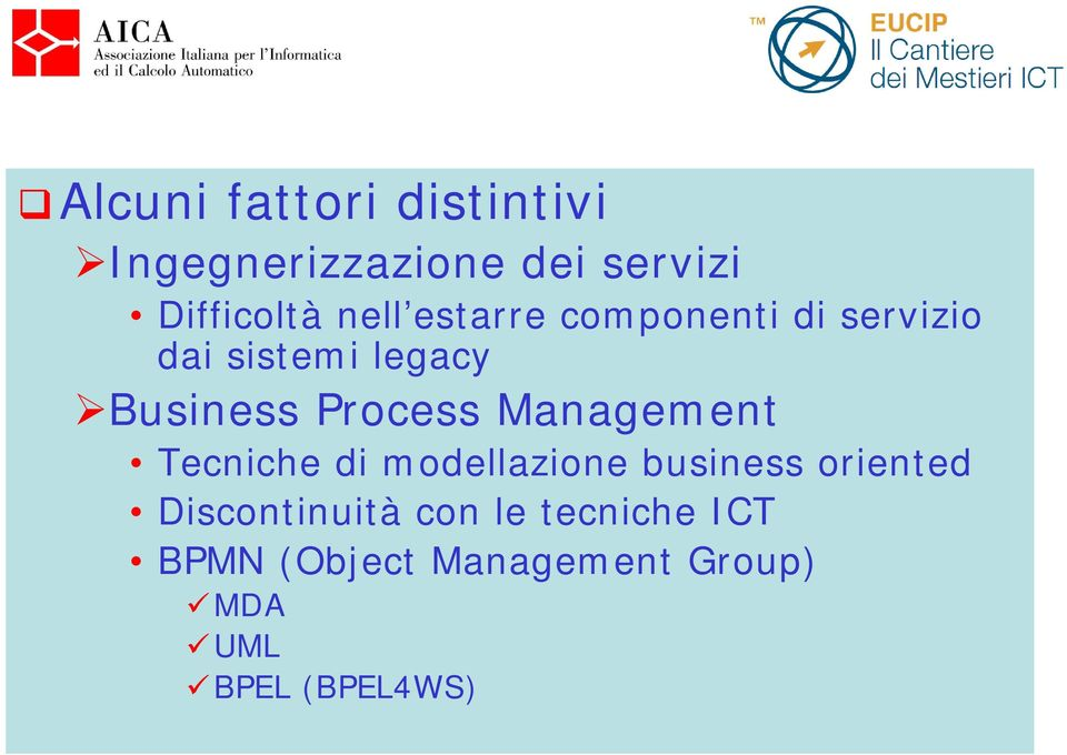 Process Management Tecniche di modellazione business oriented
