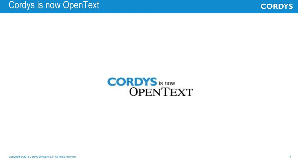 2013 Cordys Software