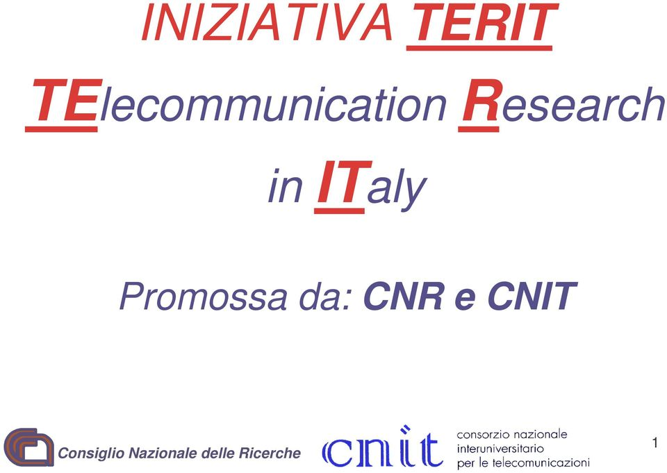 Research in ITaly