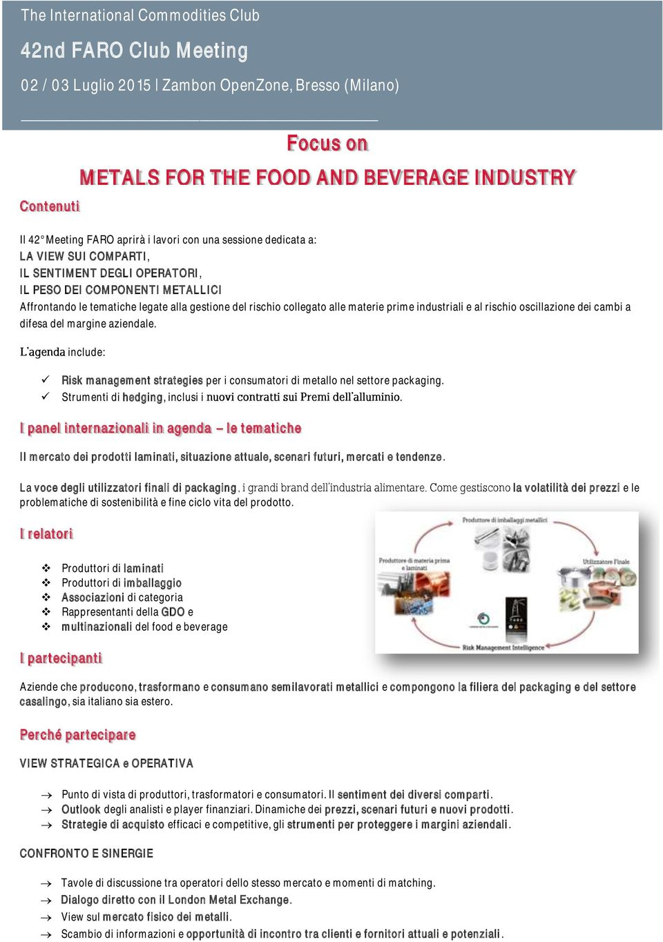 dei cambi a difesa del margine aziendale. include: Focus on METALS FOR THE FOOD AND BEVERAGE INDUSTRY Risk management strategies per i consumatori di metallo nel settore packaging.