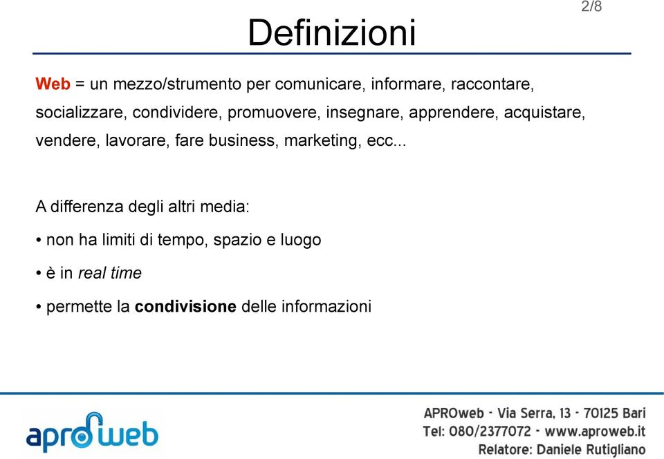 lavorare, fare business, marketing, ecc.