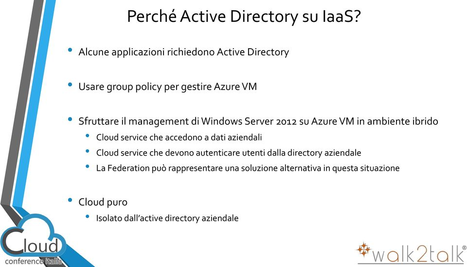 management di Windows Server 2012 su Azure VM in ambiente ibrido Cloud service che accedono a dati aziendali