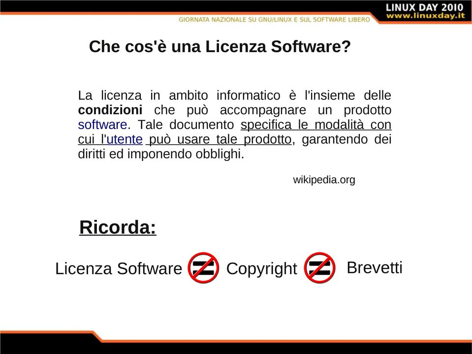 accompagnare un prodotto software.