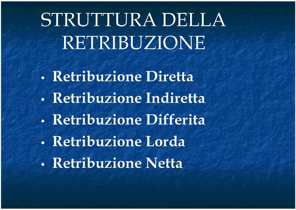 Indiretta Retribuzione Differita