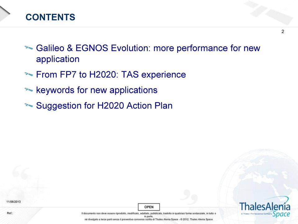 to H2020: TAS experience keywords for new