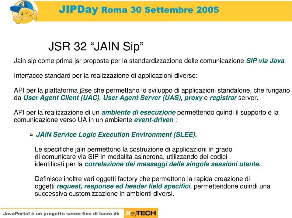 Server (UAS), proxy e registrar server.