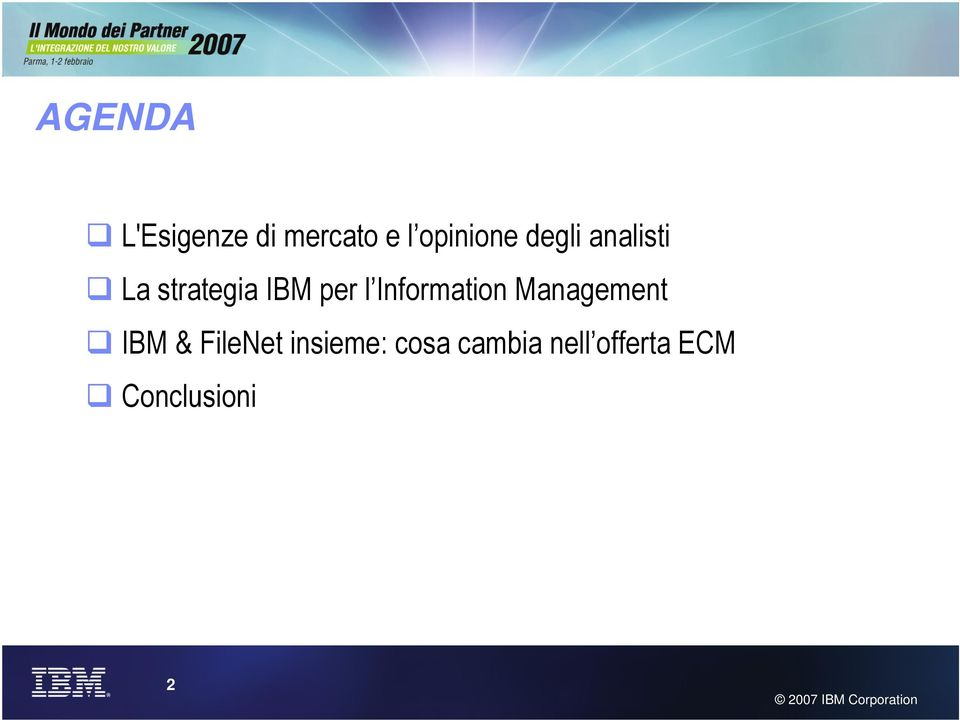 Information Management IBM & FileNet