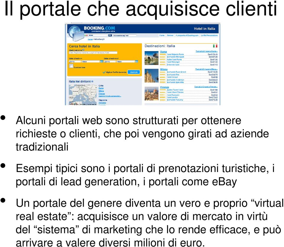 generation, i portali come ebay Un portale del genere diventa un vero e proprio virtual real estate : acquisisce un