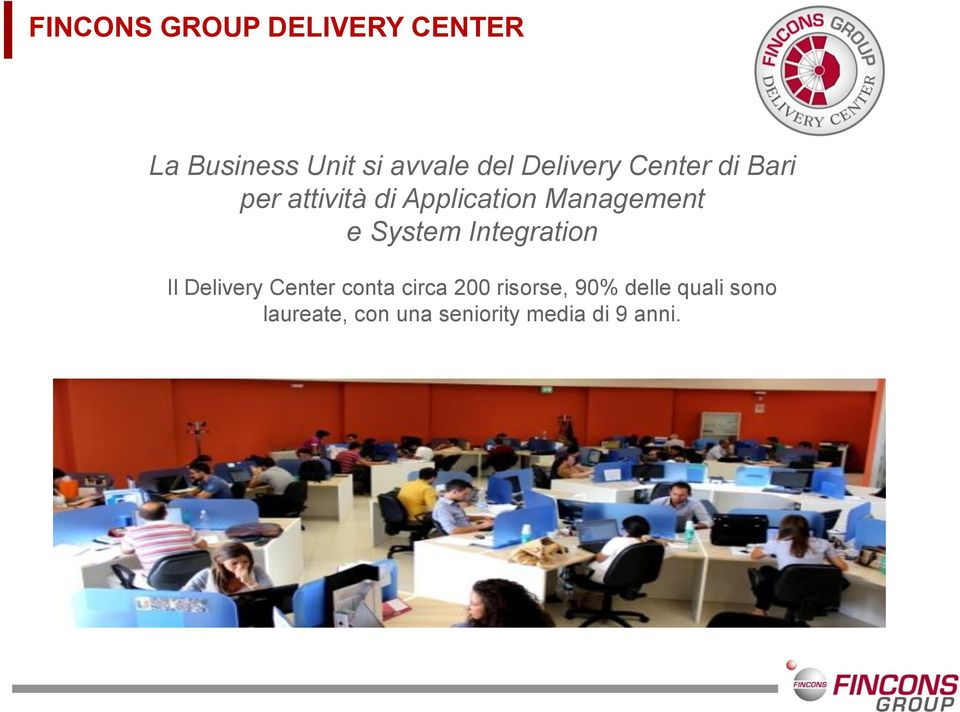 System Integration Il Delivery Center conta circa 200 risorse,