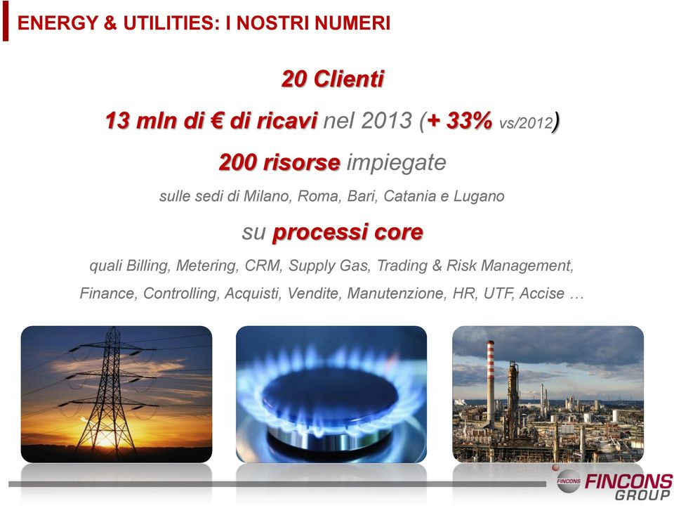 Lugano su processi core quali Billing, Metering, CRM, Supply Gas, Trading & Risk