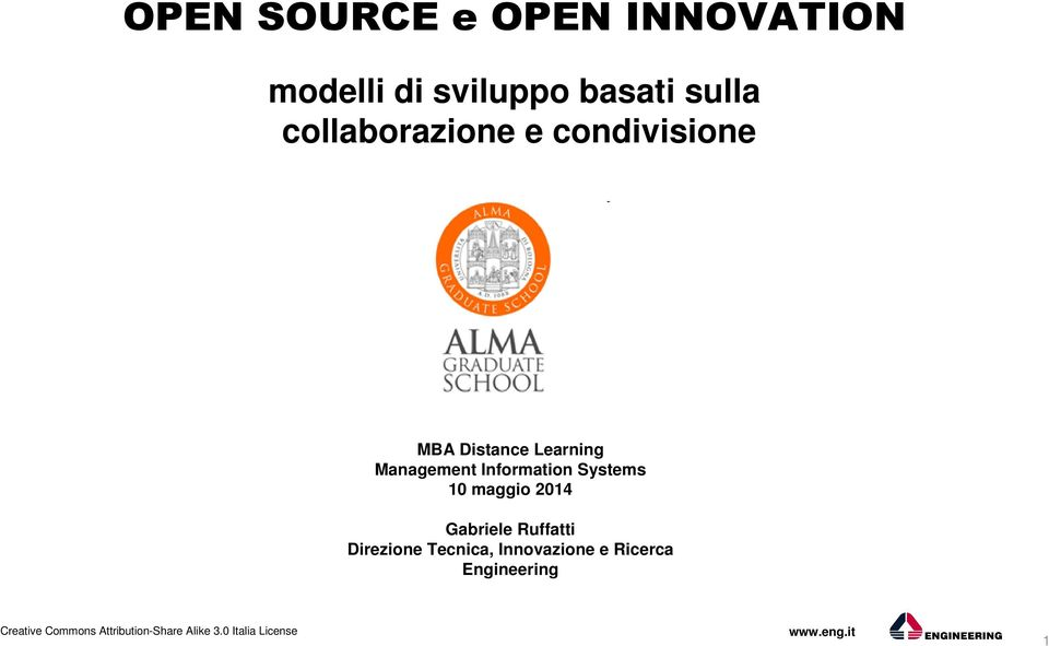 Management Information Systems 10 maggio 2014 Gabriele