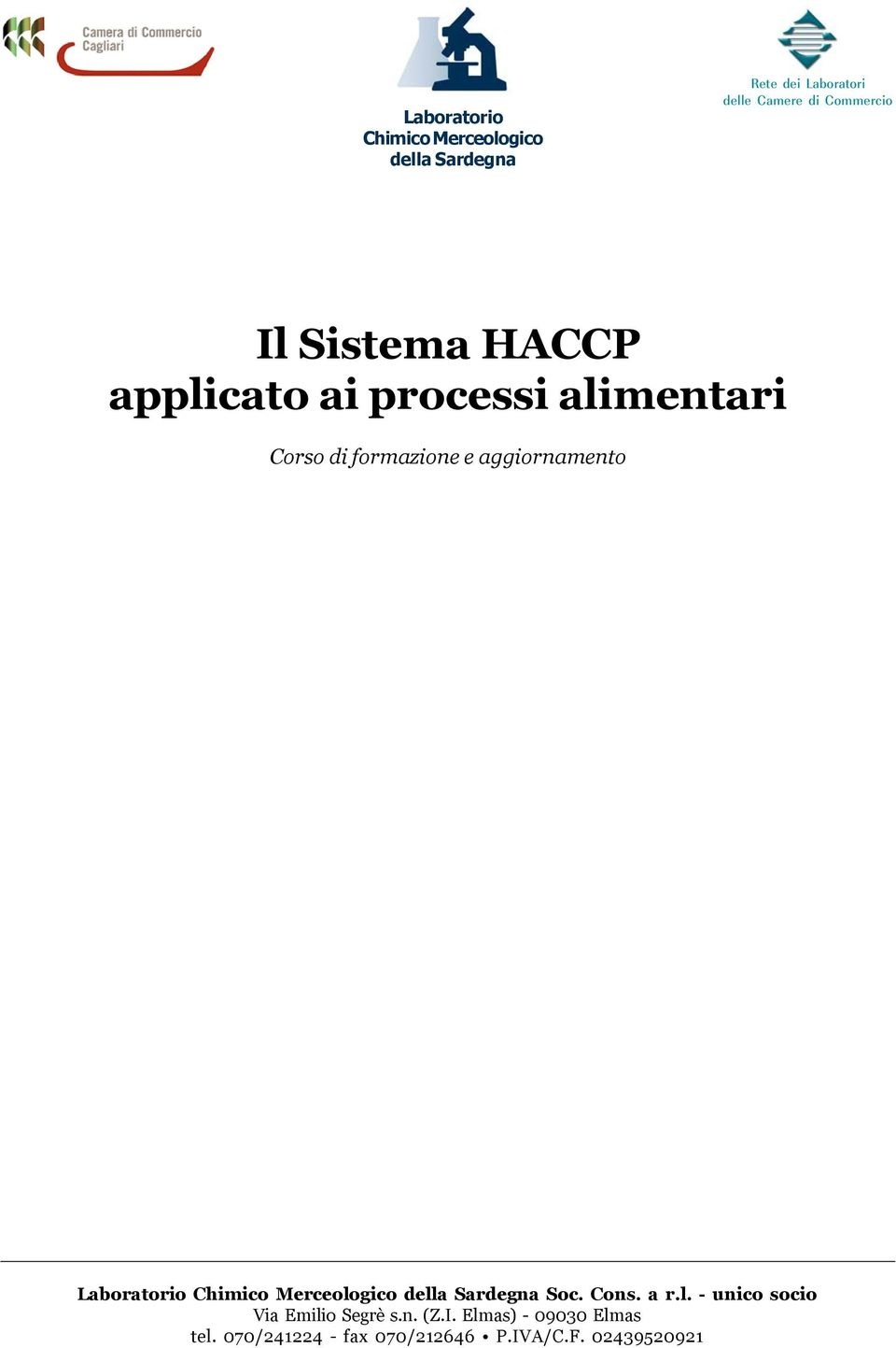 Commercio Il Sistema HACCP applicato ai